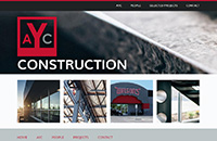 AYC Construction web design thumbnail