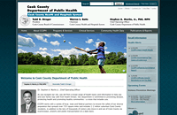 Cook County Dept of Public Health web design thumbnail