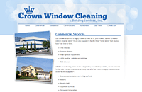 Crown Window Cleaning web design thumbnail