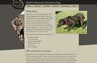Marble Mountain Detection Dogs web design thumbnail