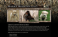 Marble Mountain Kennels web design thumbnail
