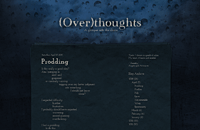 (Over)thoughts web design thumbnail