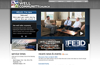 Well Community Church web design thumbnail